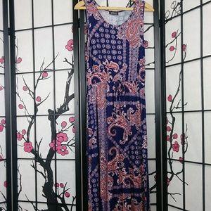 Papermoon Paisley Maxi Dress Tied Waist Stretch